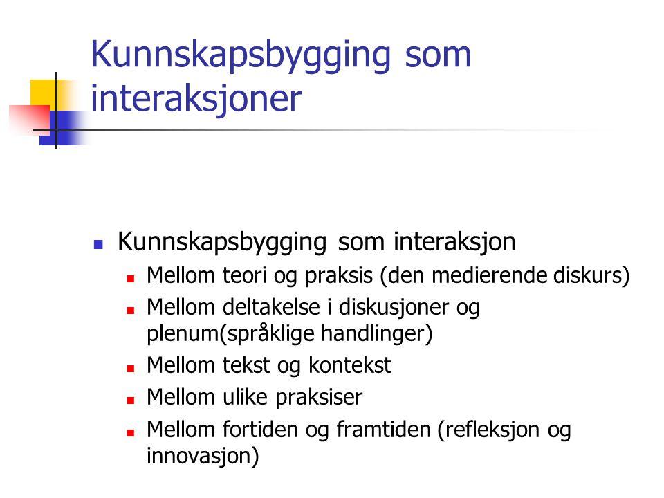 Kunnskapsbygging som interaksjoner