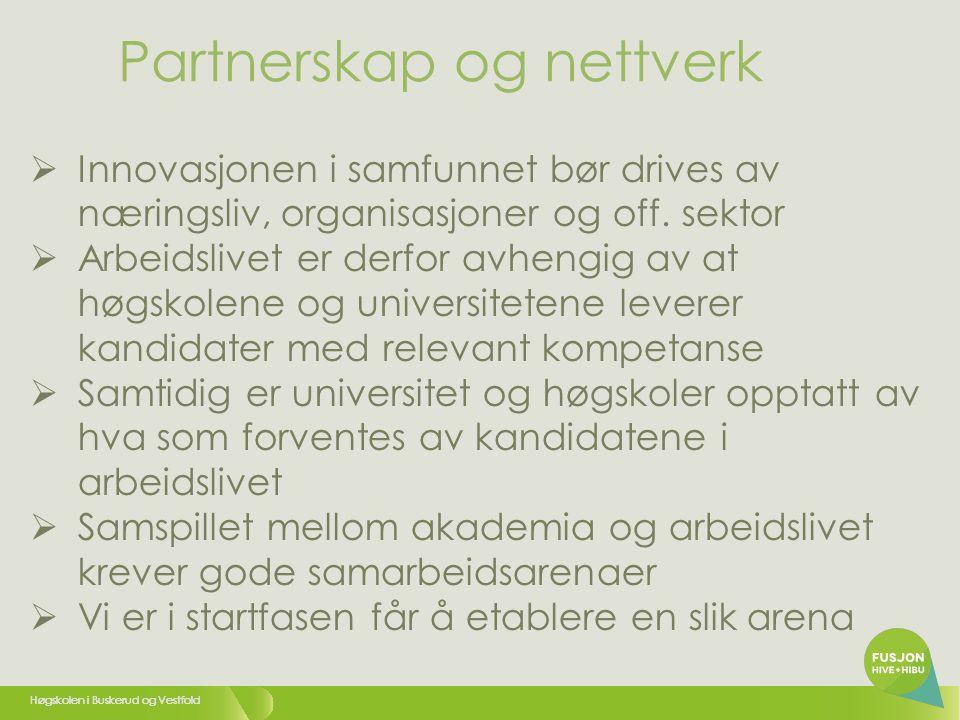 Partnerskap og nettverk