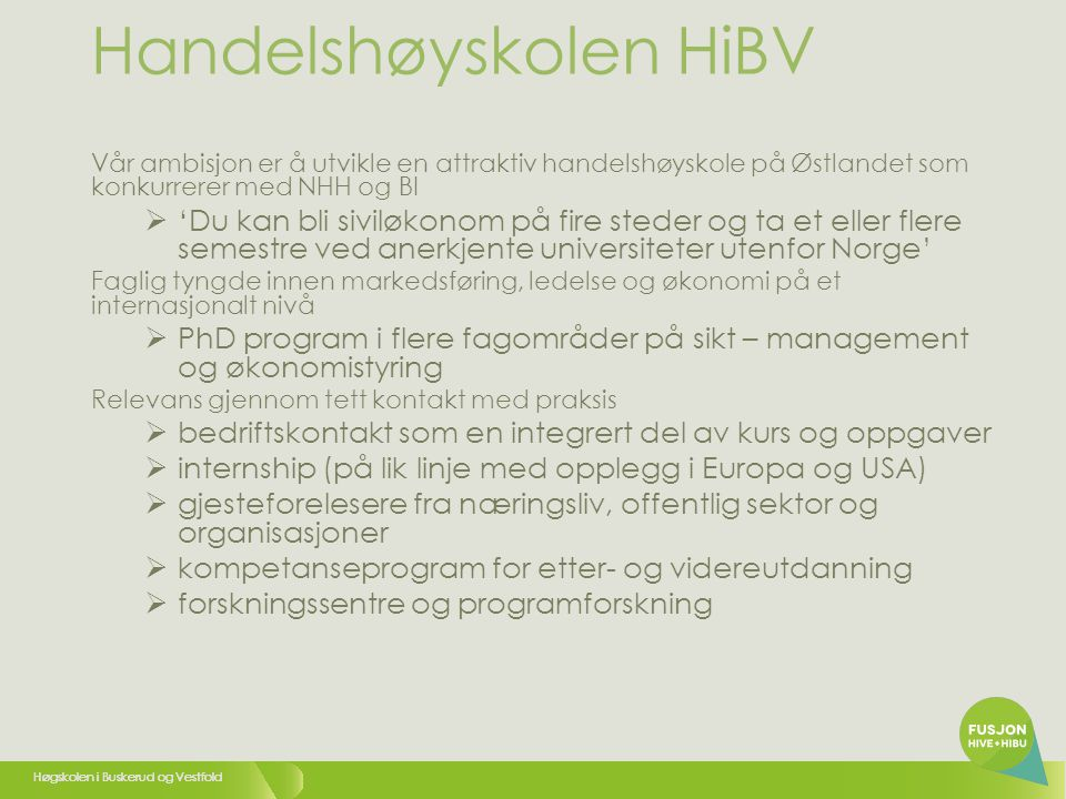 Handelshøyskolen HiBV