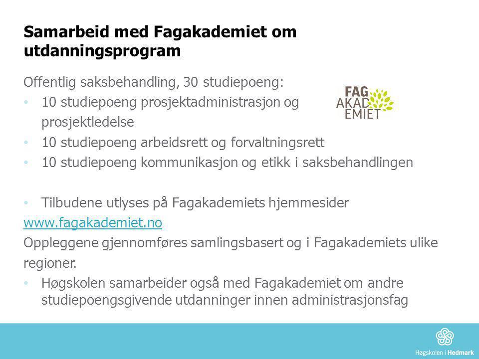 Samarbeid med Fagakademiet om utdanningsprogram