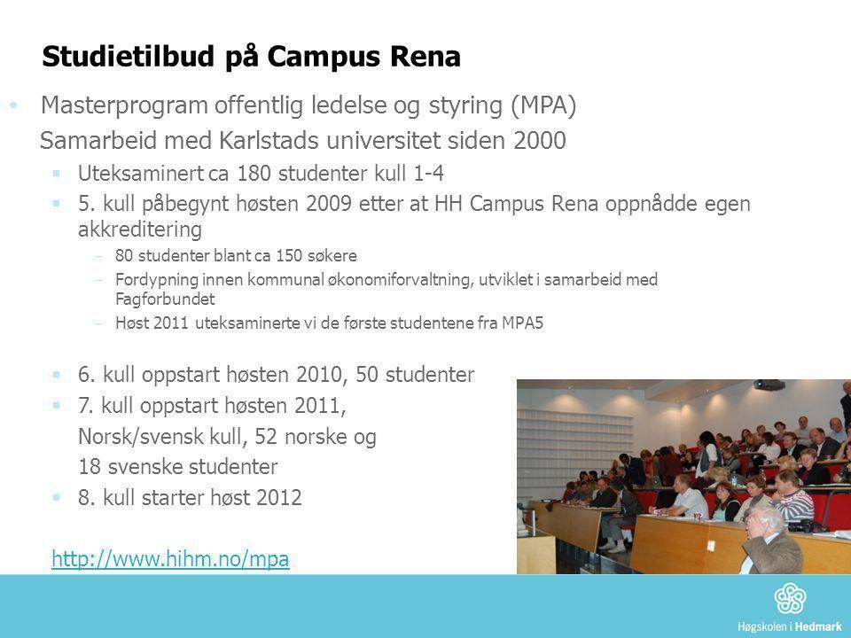 Studietilbud på Campus Rena
