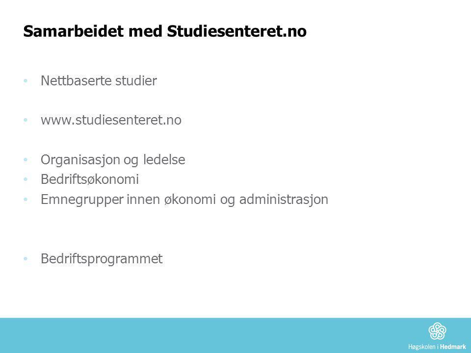 Samarbeidet med Studiesenteret.no