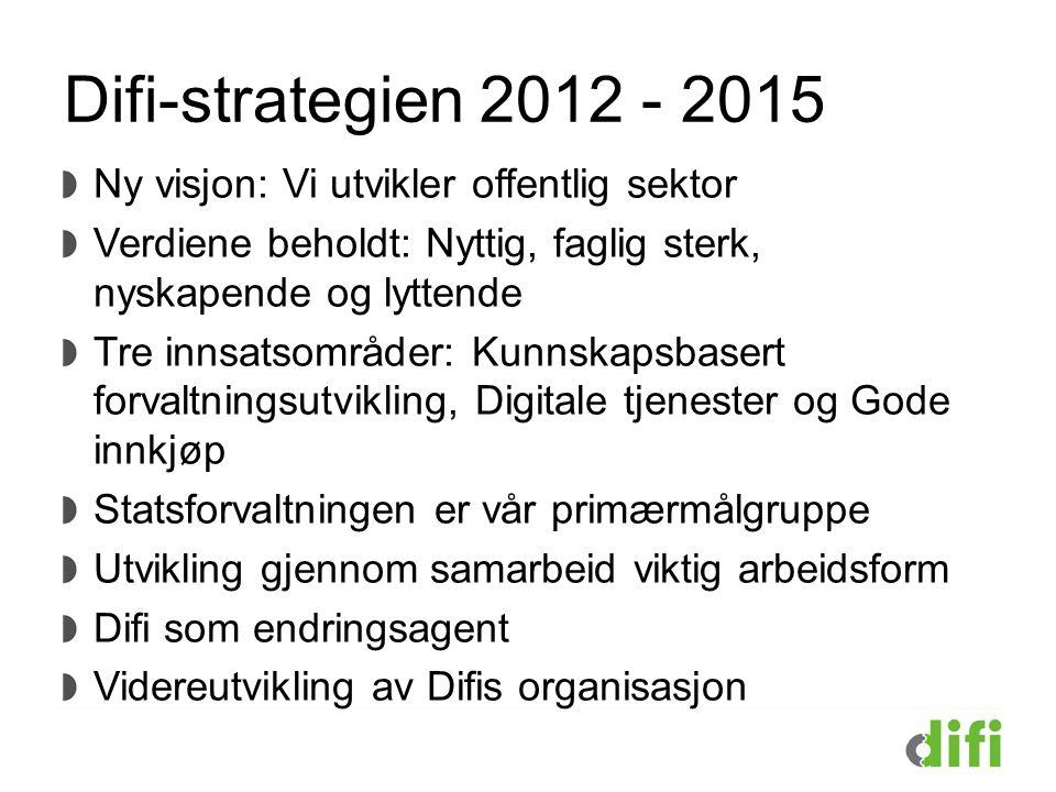 Difi-strategien 2012 - 2015 Ny visjon: Vi utvikler offentlig sektor