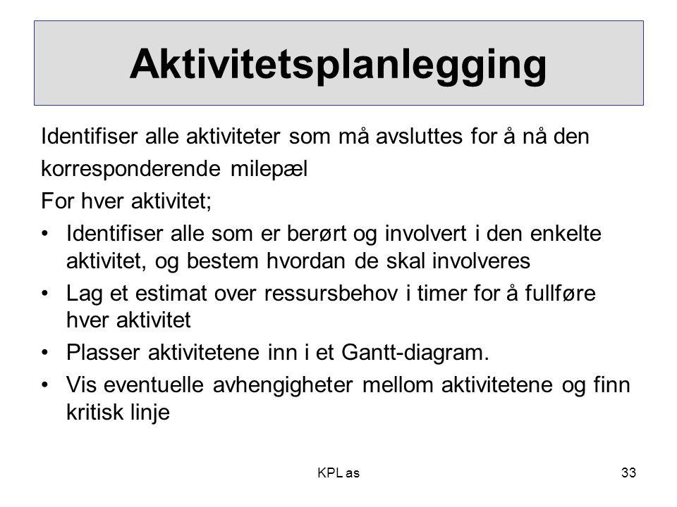 Aktivitetsplanlegging
