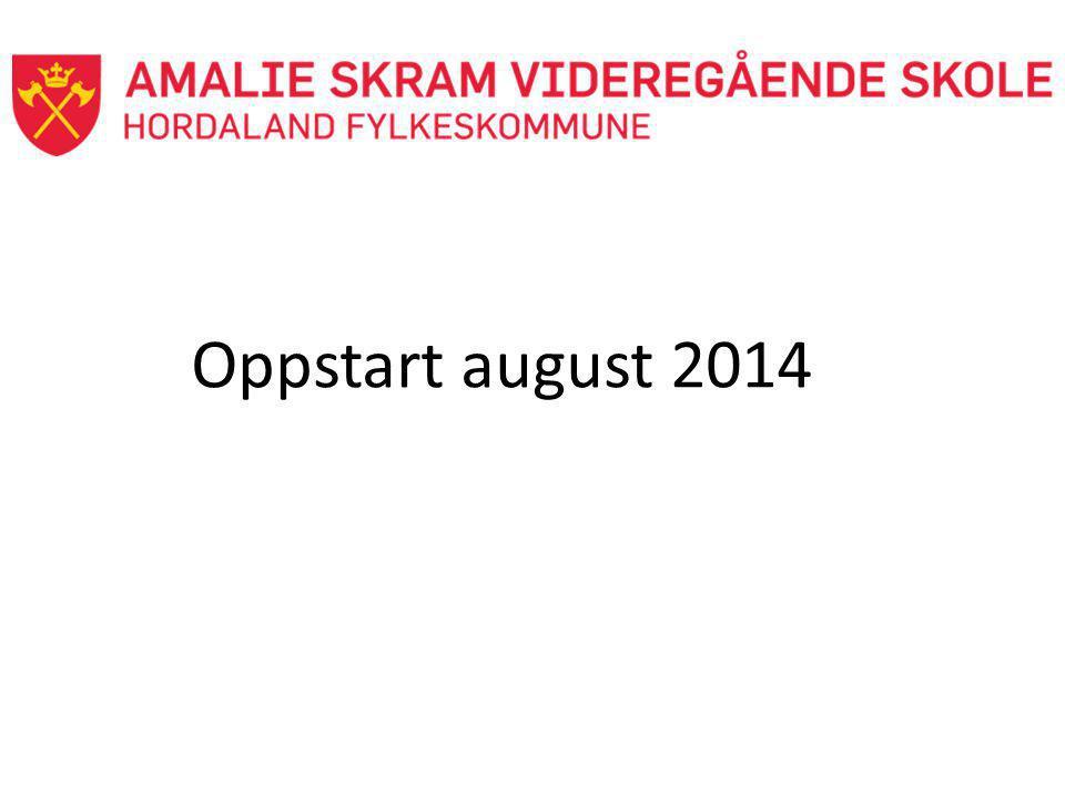 Oppstart august 2014