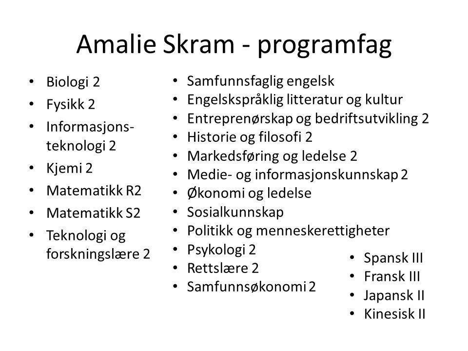 Amalie Skram - programfag