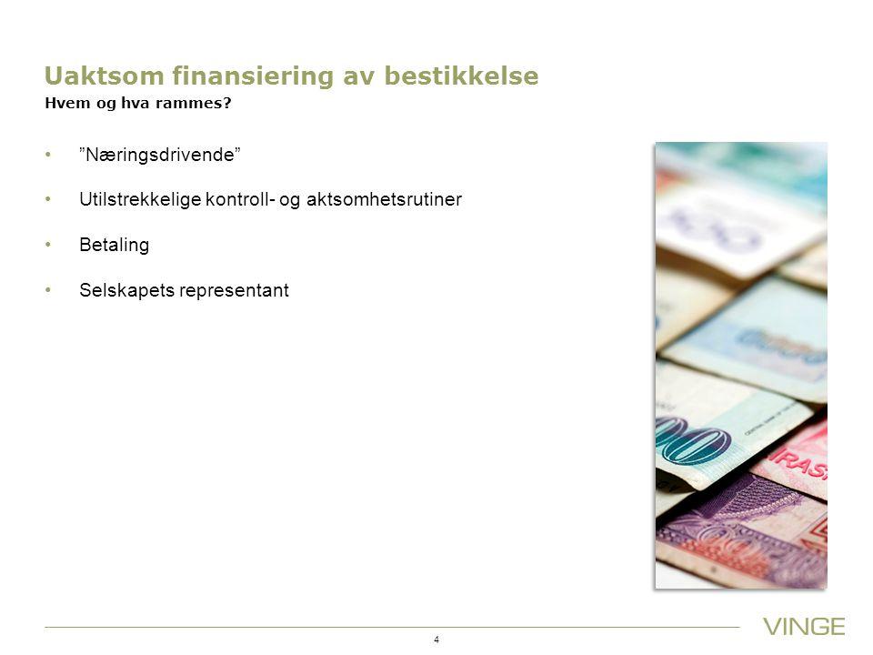 Uaktsom finansiering av bestikkelse