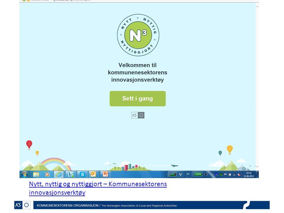 Nytt, nyttig og nyttiggjort – Kommunesektorens innovasjonsverktøy