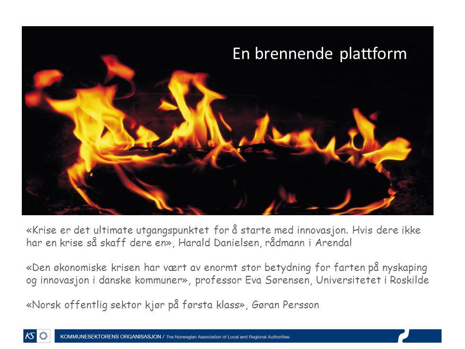 En brennende plattform