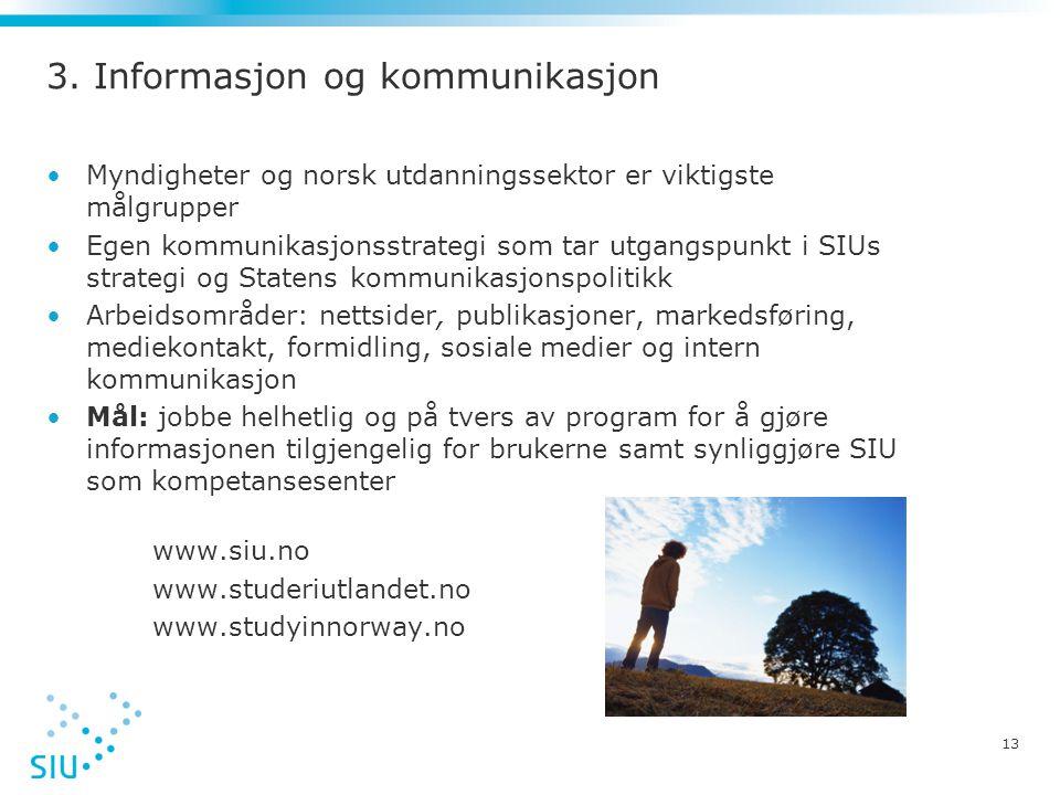 3. Informasjon og kommunikasjon