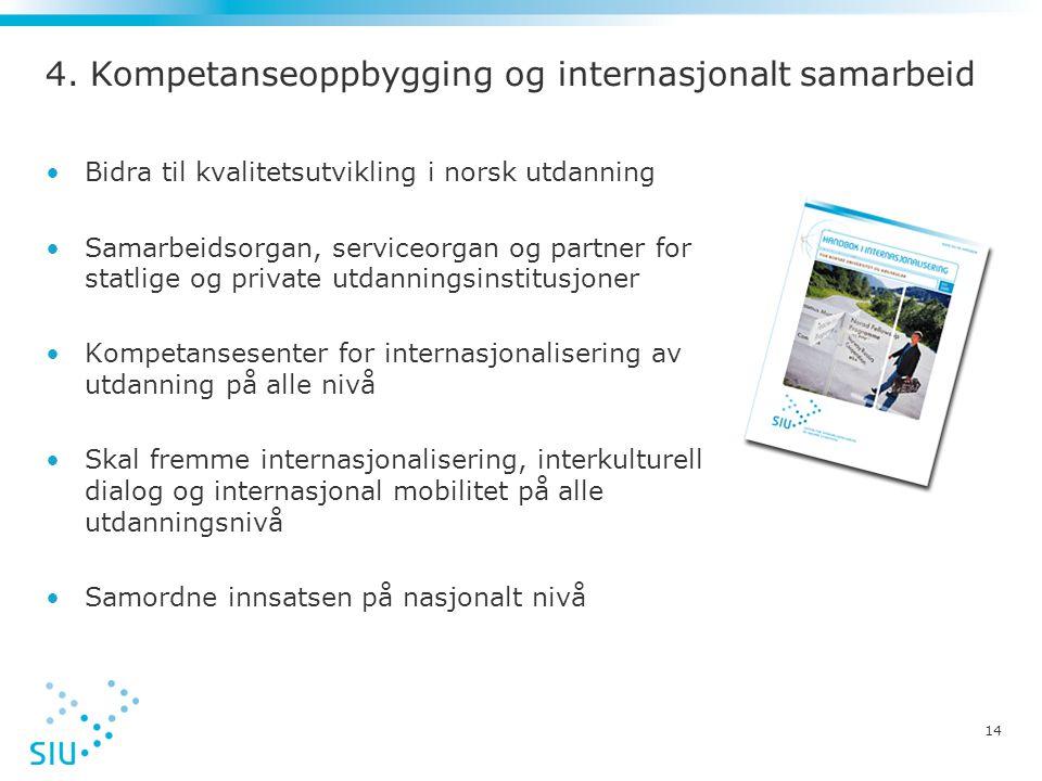 4. Kompetanseoppbygging og internasjonalt samarbeid