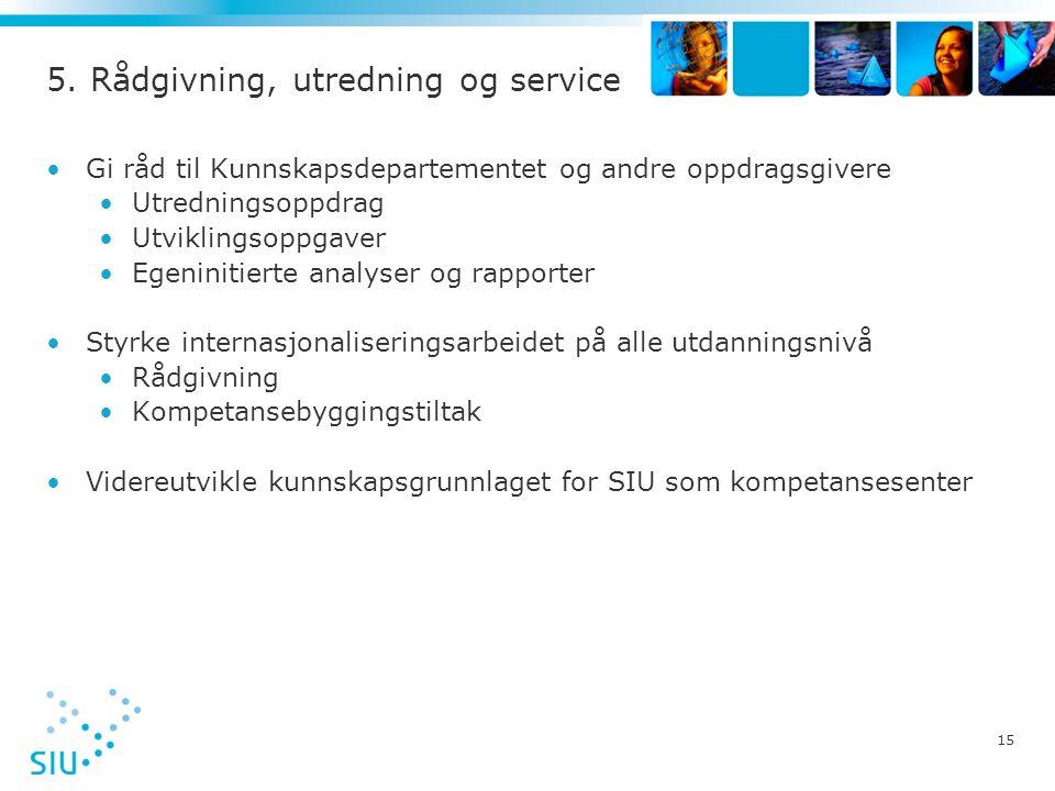 5. Rådgivning, utredning og service