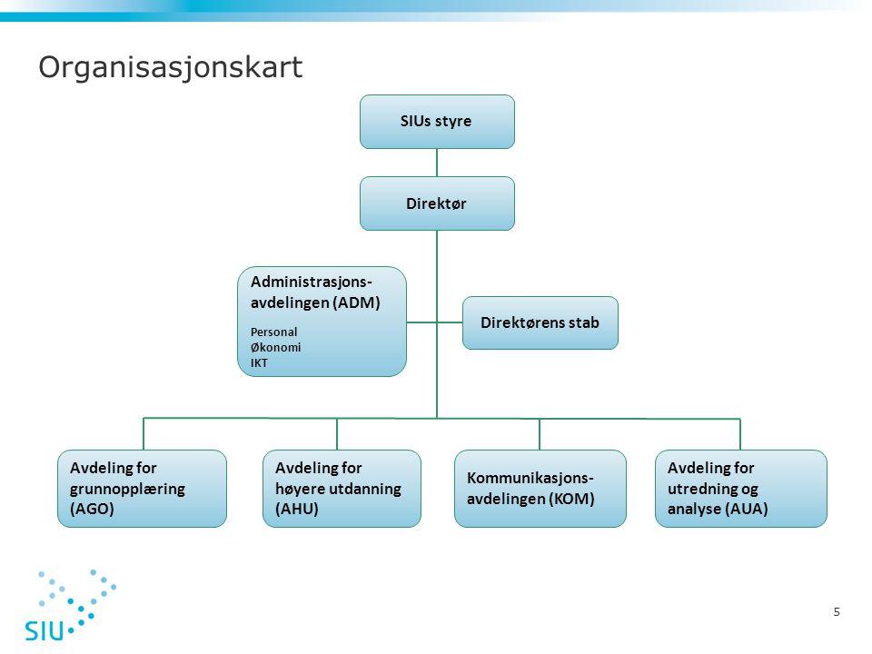 Organisasjonskart SIUs styre Direktør