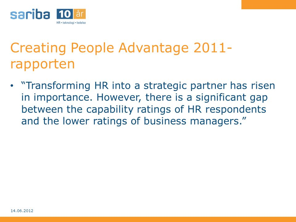 Creating People Advantage 2011-rapporten