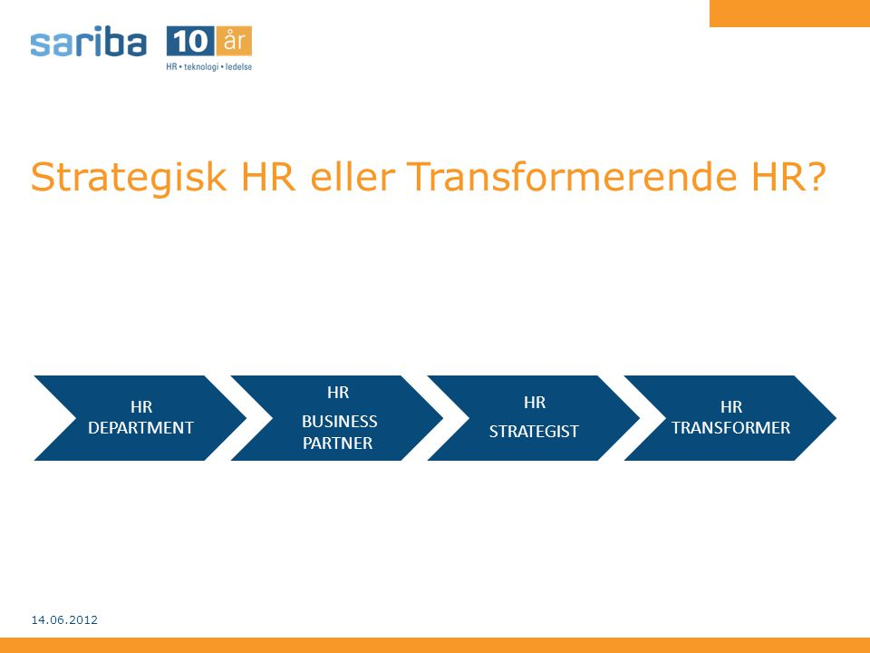 Strategisk HR eller Transformerende HR