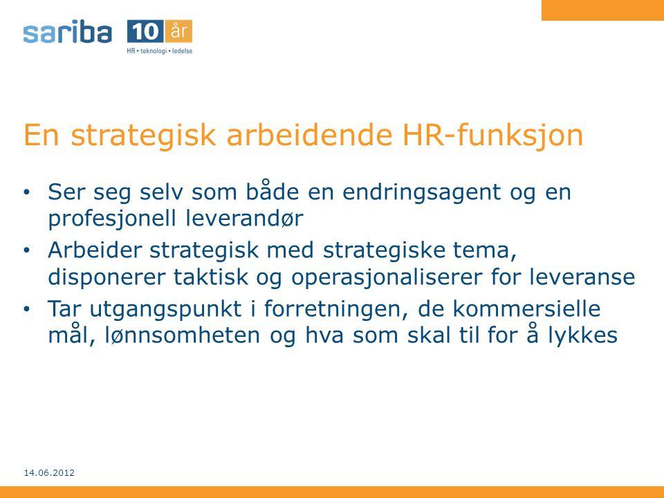 En strategisk arbeidende HR-funksjon