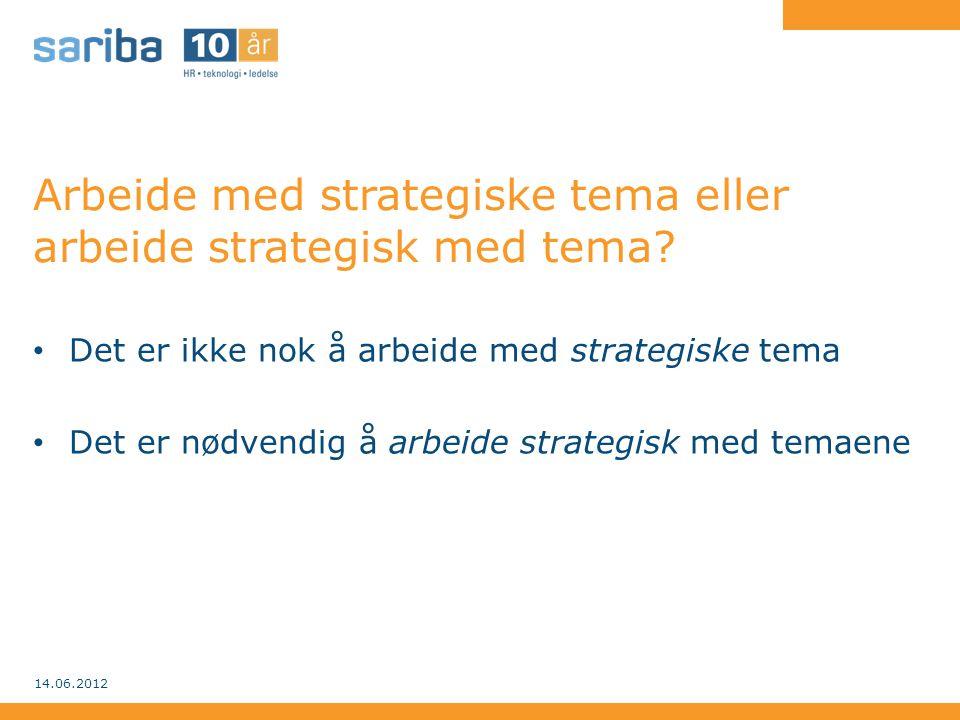 Arbeide med strategiske tema eller arbeide strategisk med tema