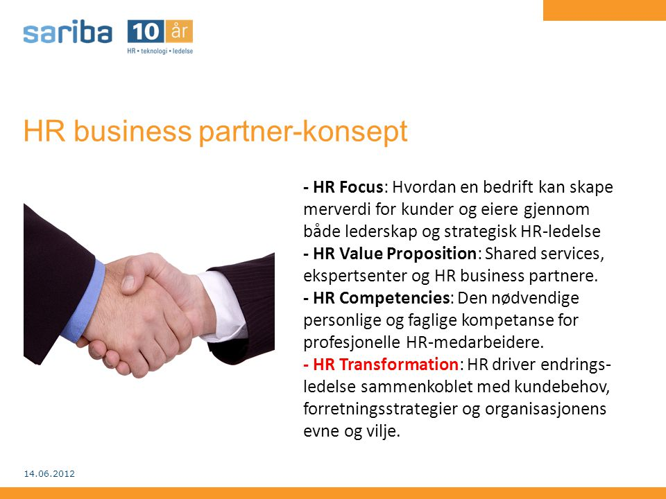 HR business partner-konsept