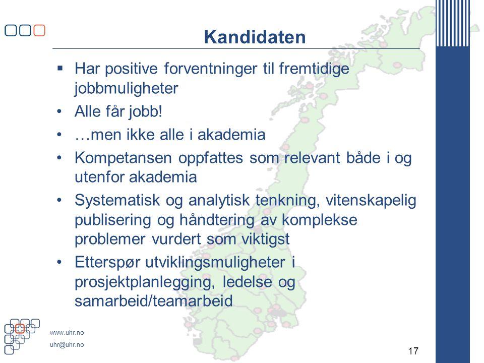 Institusjonen Økning i kandidatproduksjonen
