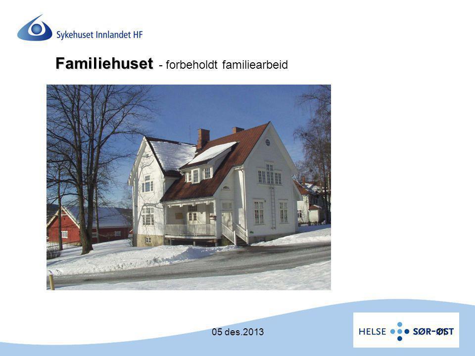 Familiehuset - forbeholdt familiearbeid