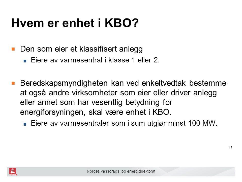 Hvem er enhet i KBO Den som eier et klassifisert anlegg
