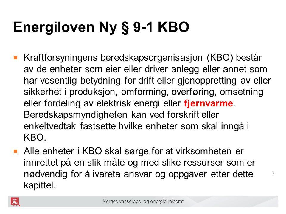 Energiloven Ny § 9-1 KBO