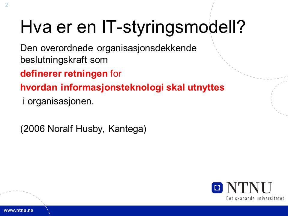 Hva er en IT-styringsmodell