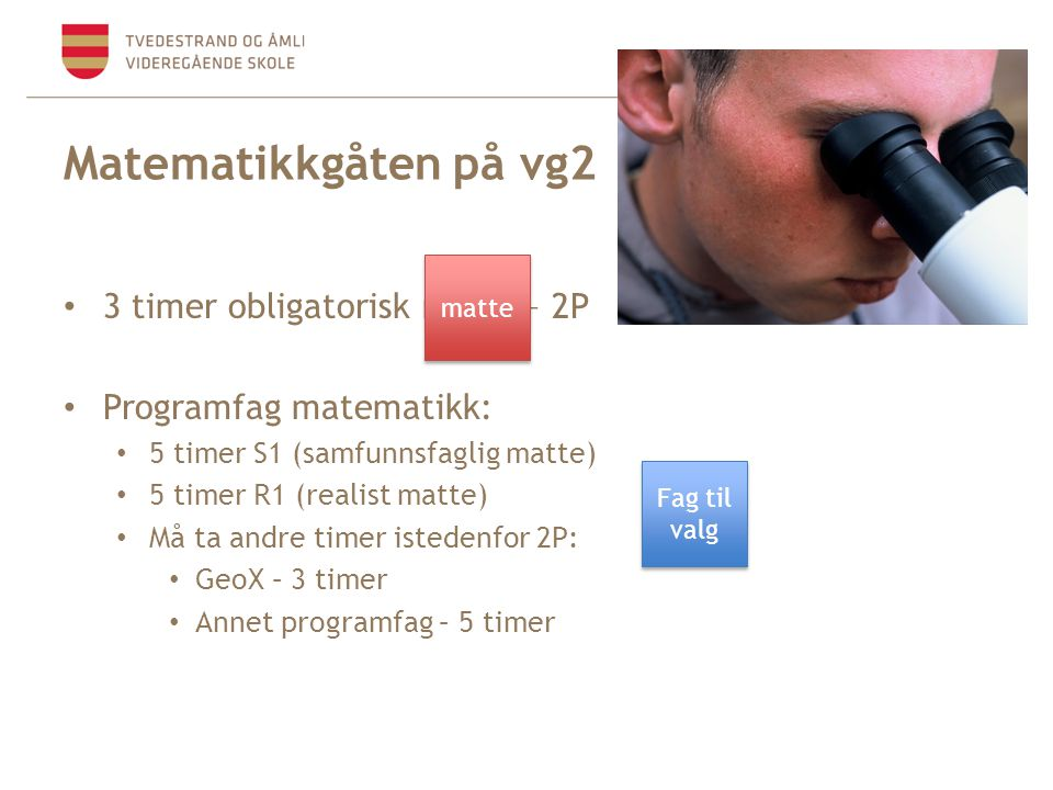 Matematikkgåten på vg2 3 timer obligatorisk matte – 2P