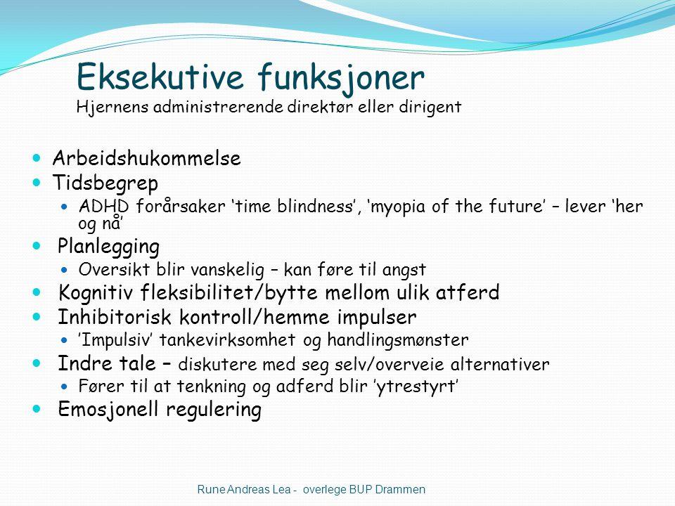 Eksekutive funksjoner Hjernens administrerende direktør eller dirigent