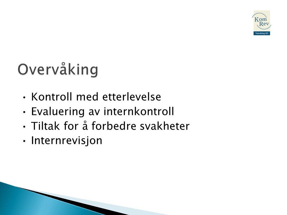 Overvåking • Kontroll med etterlevelse • Evaluering av internkontroll