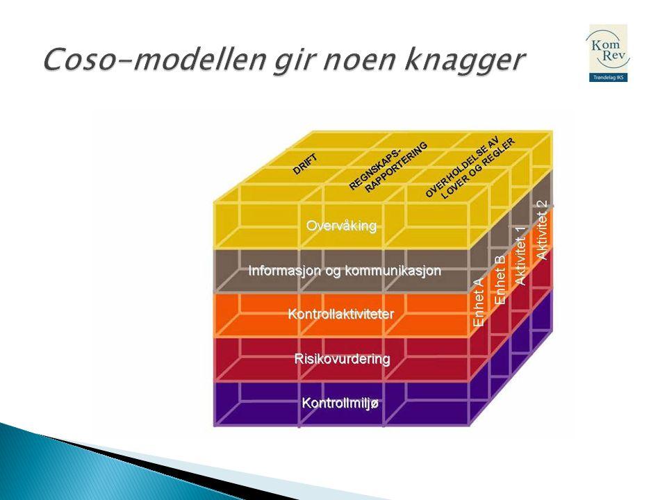 Coso-modellen gir noen knagger