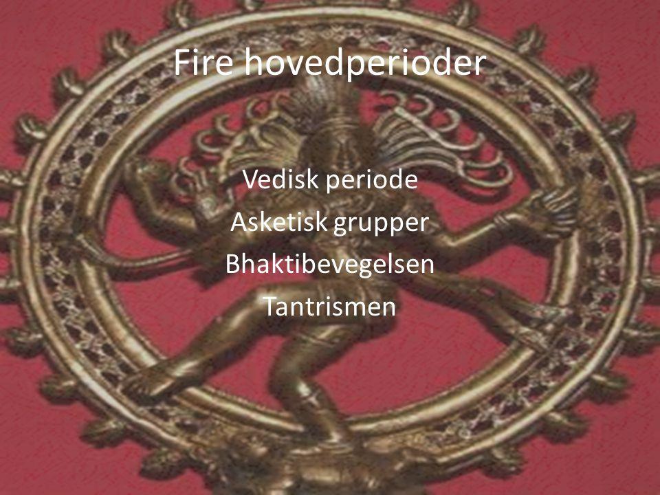Vedisk periode Asketisk grupper Bhaktibevegelsen Tantrismen