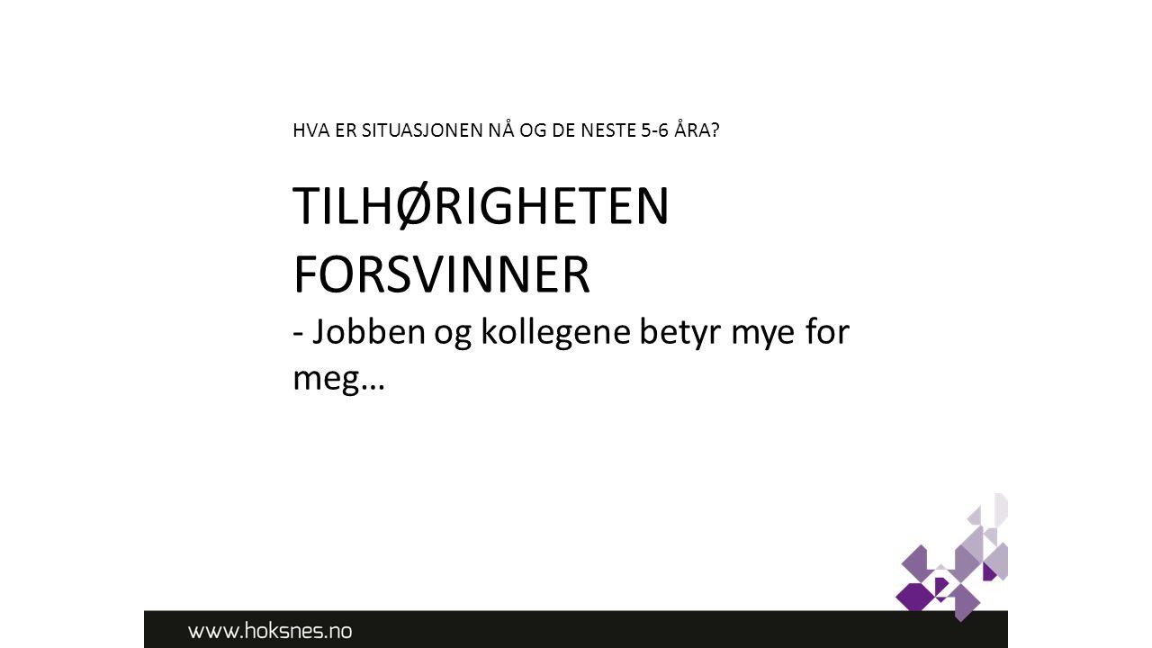 TILHØRIGHETEN FORSVINNER