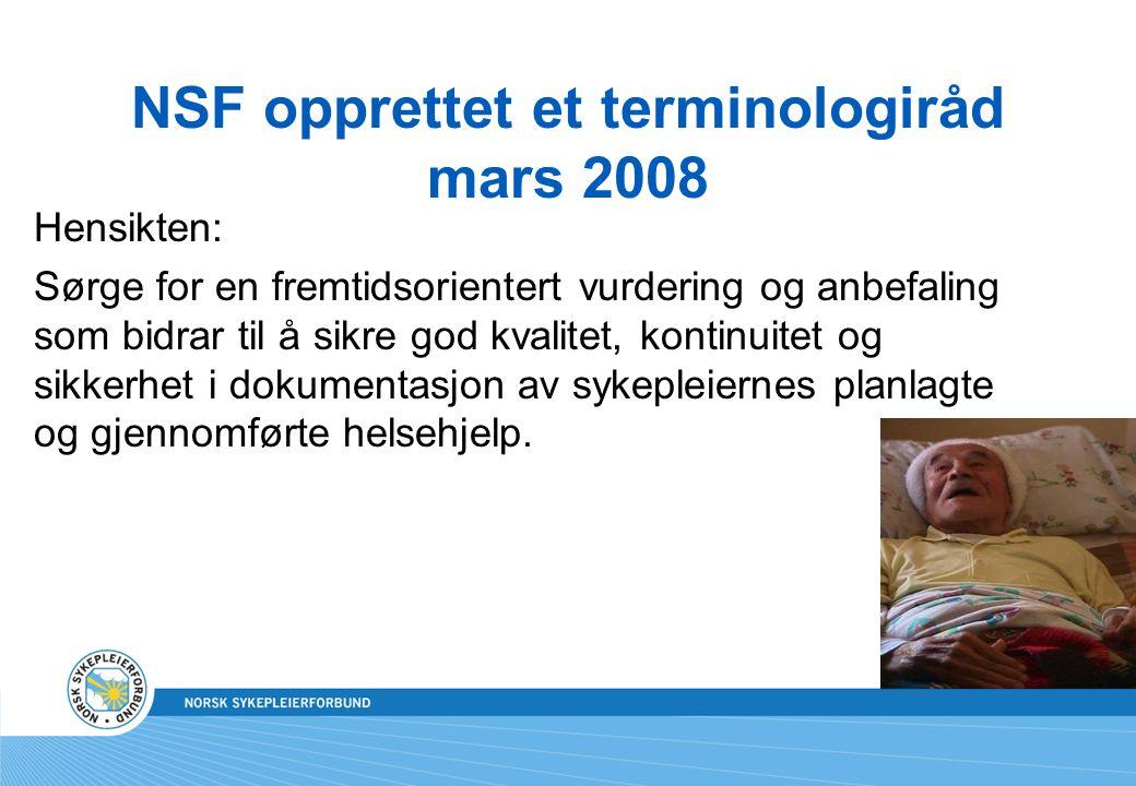 NSF opprettet et terminologiråd mars 2008