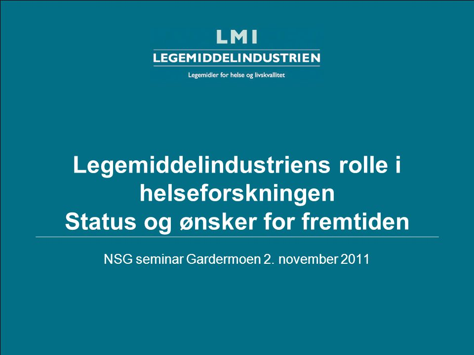 NSG seminar Gardermoen 2. november 2011