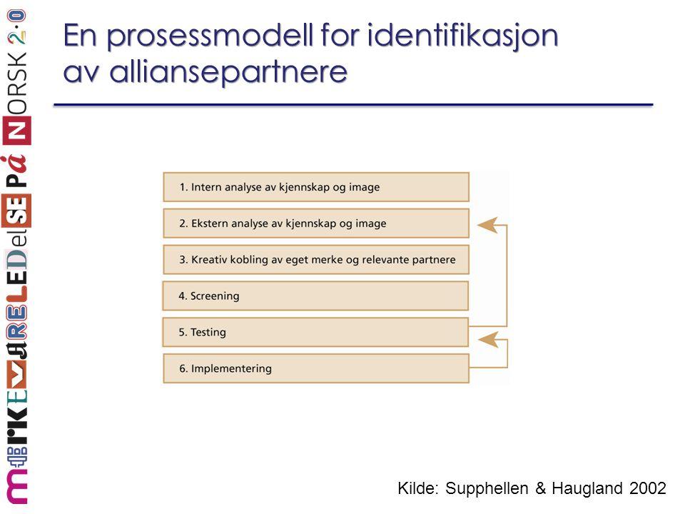 En prosessmodell for identifikasjon av alliansepartnere