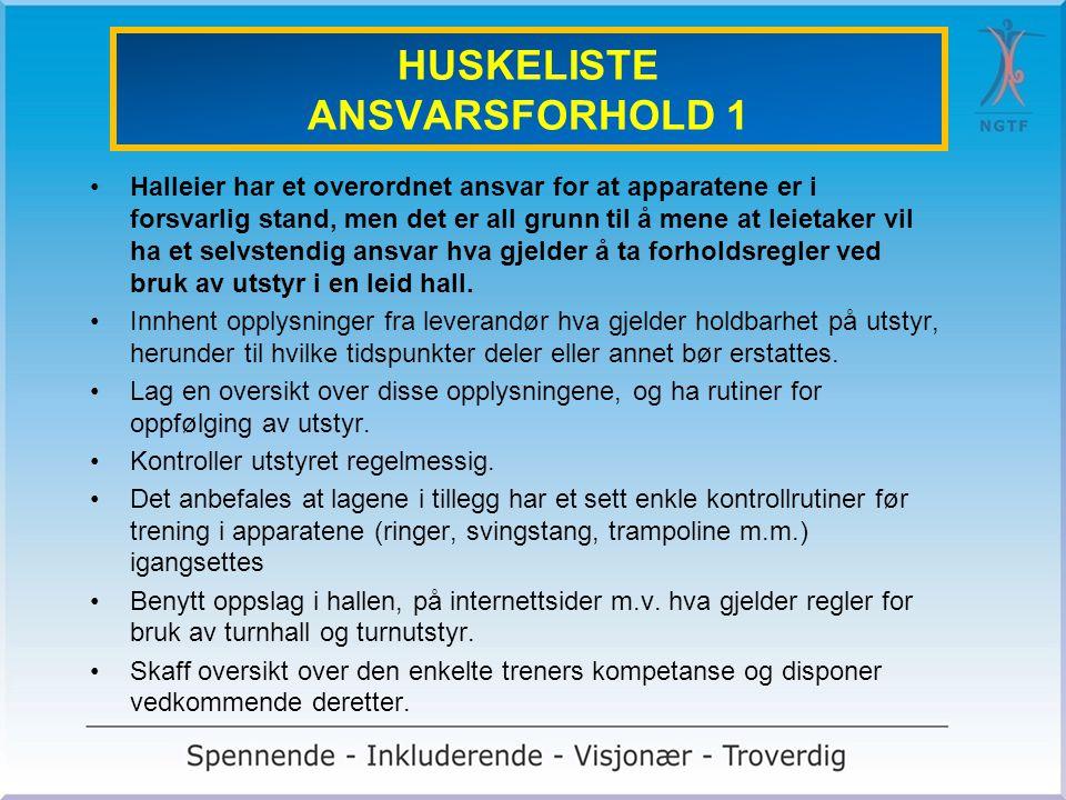 HUSKELISTE ANSVARSFORHOLD 1