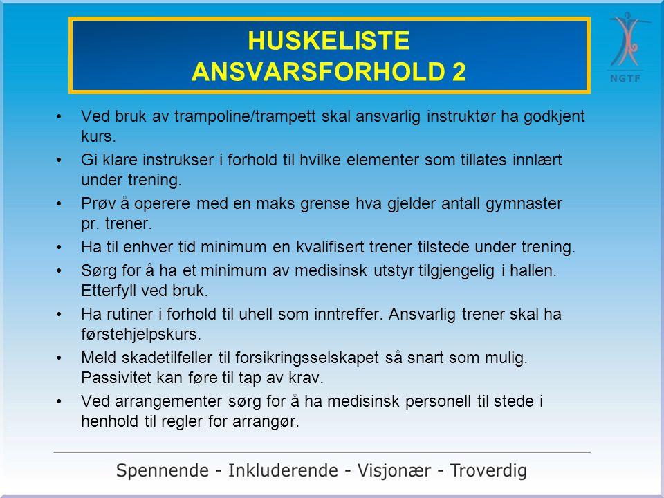 HUSKELISTE ANSVARSFORHOLD 2