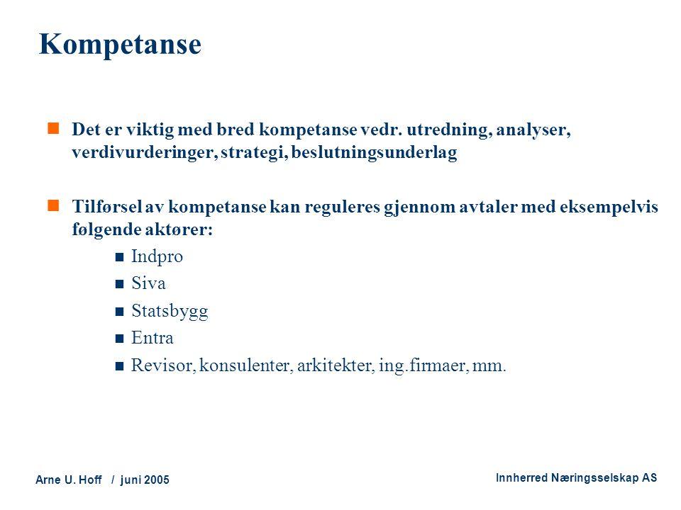 Kompetanse Det er viktig med bred kompetanse vedr. utredning, analyser, verdivurderinger, strategi, beslutningsunderlag.