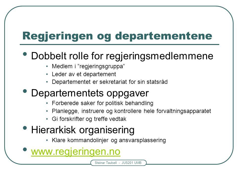 Regjeringen og departementene