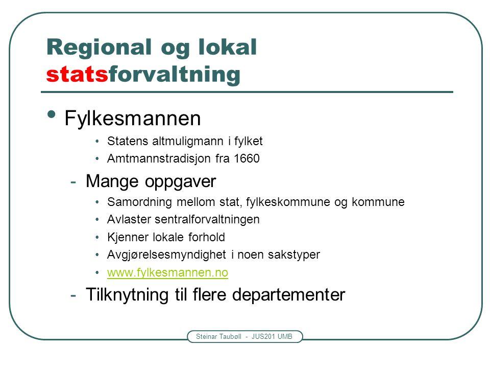 Regional og lokal statsforvaltning