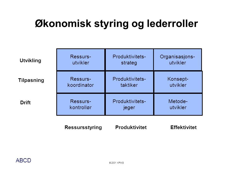 Økonomisk styring og lederroller