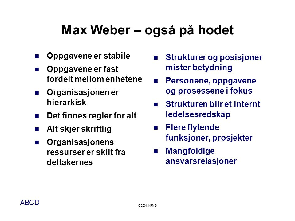 Max Weber – også på hodet