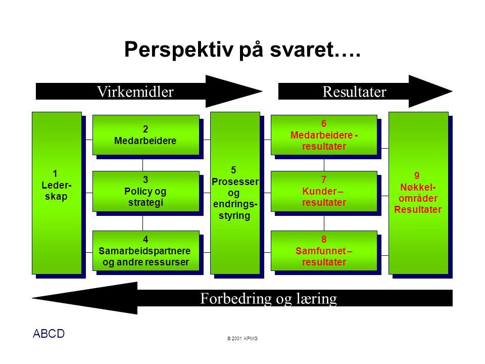 Perspektiv på svaret…. Virkemidler Resultater Forbedring og læring 1