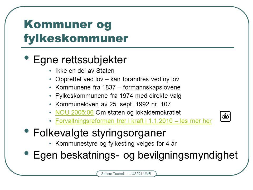 Kommuner og fylkeskommuner