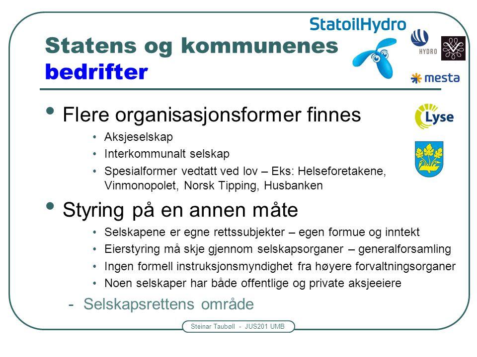 Statens og kommunenes bedrifter