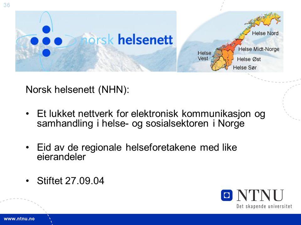 Norsk helsenett (NHN):