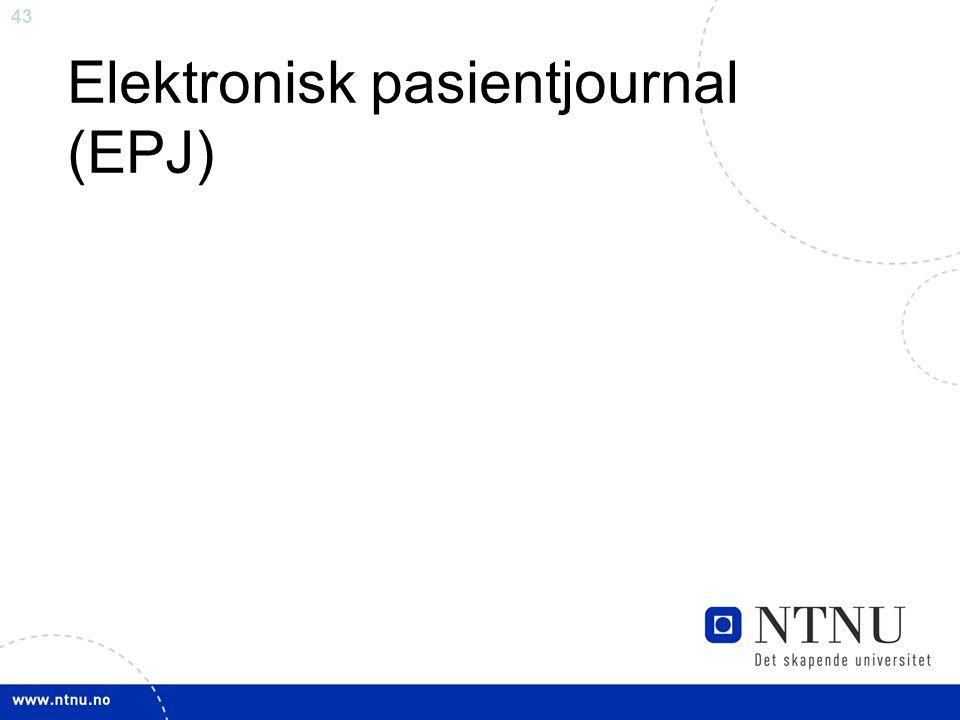 Elektronisk pasientjournal (EPJ)