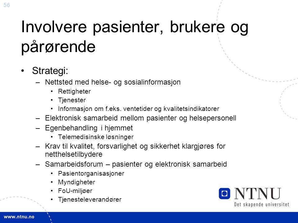 Involvere pasienter, brukere og pårørende