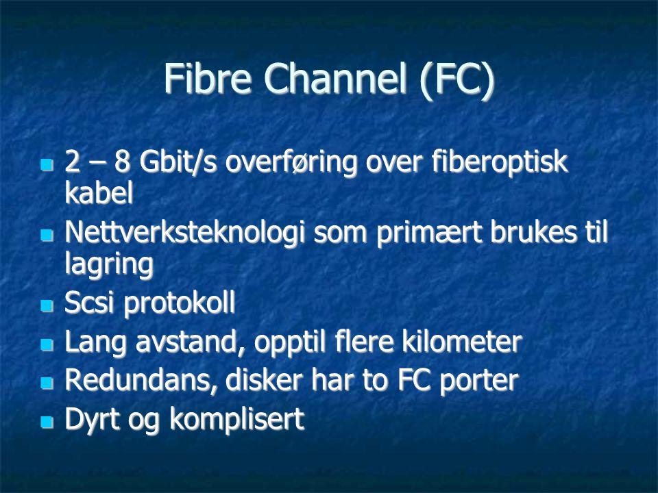 Fibre Channel (FC) 2 – 8 Gbit/s overføring over fiberoptisk kabel